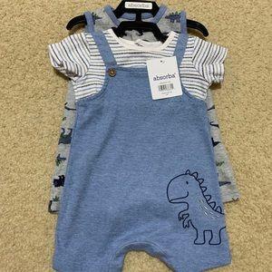 Absorba baby boy short-tall 2 piece set 6M